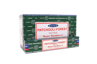 Satya Patchouli Forest Incense Sticks (Box Of 12 Packs) (Dark Green) (One Size)