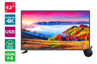 "Kogan 43"" 4K LED TV (Series 8 JU8100) + Chromecast Ultra"
