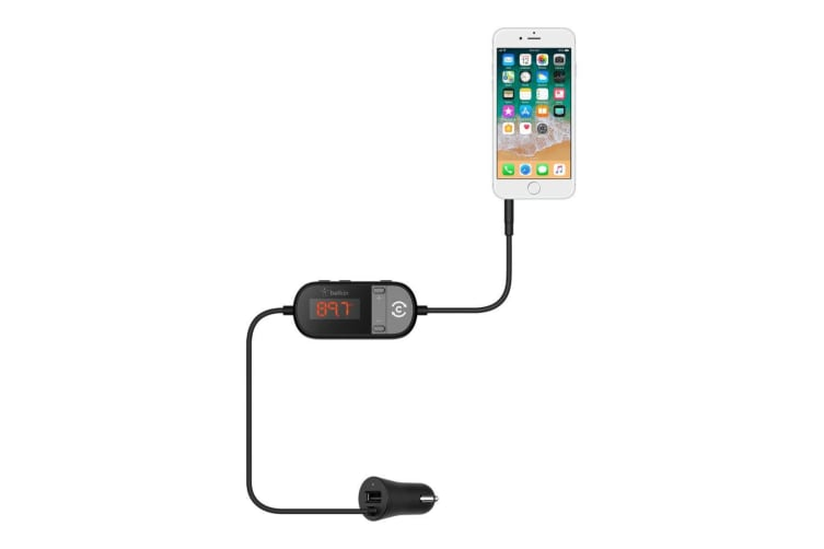 Belkin TuneCast In-Car Kit Single Port/3.5mm Aux Headphone Jack FM Transmitter