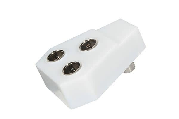 Image of 3 Way Splitter Rf Plug Satellite Coaxial Antenna Combiner 3 Female To Male Rf Plug