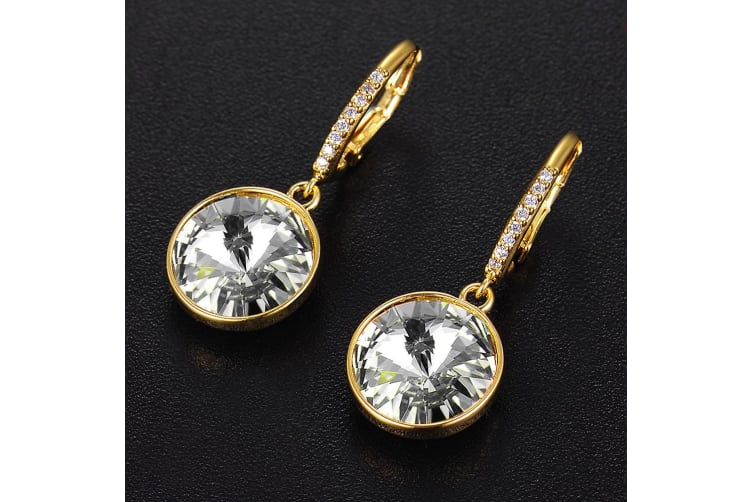Precious Drop Earrings Clear Embellished with Swarovski crystals
