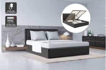 Ovela Bed Frame - Siena Gas Lift Collection (Black)