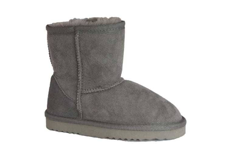 Eastern Counties Leather Childrens/Kids Charlie Sheepskin Boots (Grey) (8 Child UK)