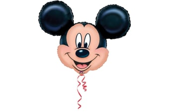 Amscan Mickey Mouse Supershape Balloon (Black/Pink) (One Size)