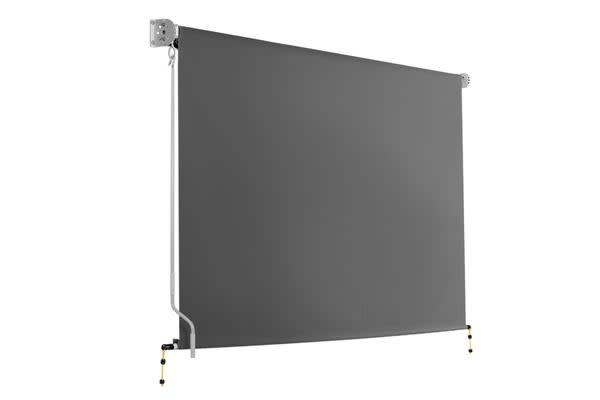 Image of 3m x 2.5m Retractable Roll Down Awning (Grey)