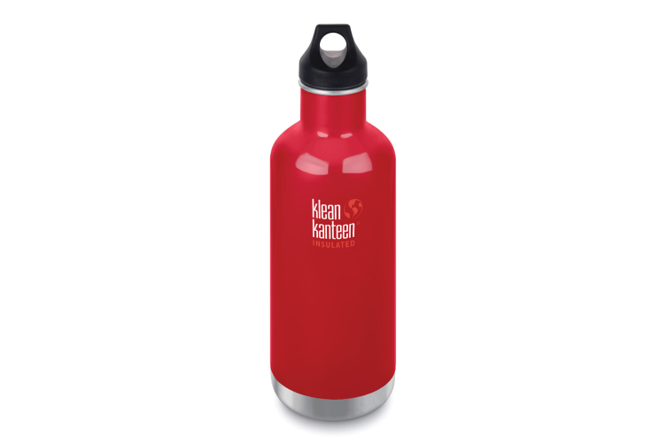 KLEAN KANTEEN CLASSIC INSULATED 32oz 946ml MINERAL RED BPA FREE Water Bottle