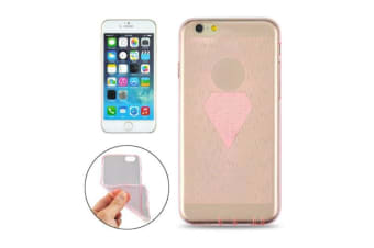 For iPhone 6S 6 Case Modern Diamond Transparent Durable Shielding Cover Pink