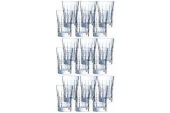 18PK Cristal D'Arques Rendez-Vous 360ml Highball Hiball Glasses Bar Tableware