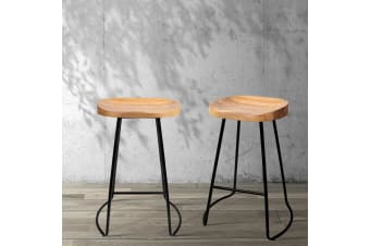 Artiss 2 x Vintage Tractor Bar Stools Retro Bar Stool Industrial Chairs 65cm