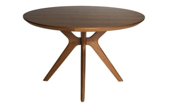 Doreen Collection | Wood Round Dining Table | Walnut | 120cm