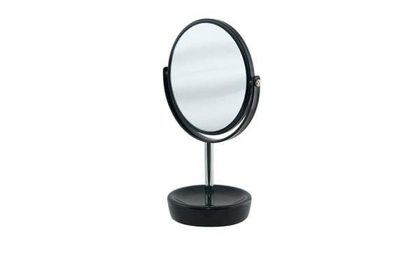 Salt & Pepper Suds Double-Sided Mirror 30cm Black