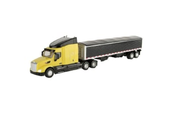 Peterbilt 579 58cm Big Farm Semi Truck w/Grain Trailer Kids Toy/1:32 Scale Model