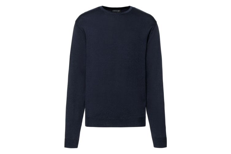 Russell Mens Cotton Acrylic Crew Neck Sweater (French Navy) (2XL)