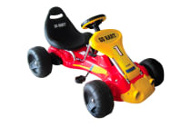 Kids Pedal Go Kart with Inflatable Tyres - Red