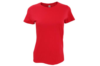 SOLS Womens/Ladies Imperial Heavy Short Sleeve T-Shirt (Red) (XL)