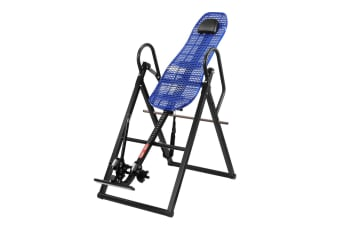 Gravity Inversion Table for Back Therapy w/ Ergonomic Curved Backrest-Black