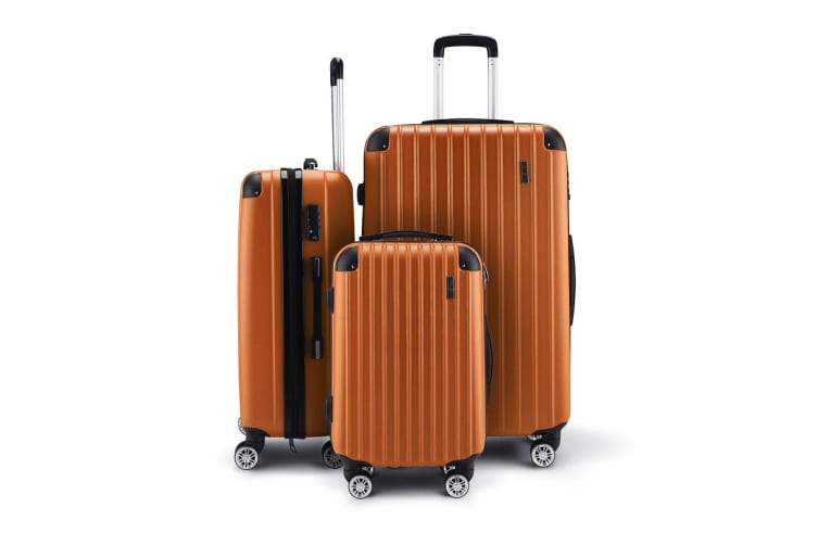 3 Piece Travel Carry On Luggage Suitcase Lightweight Trolley Set