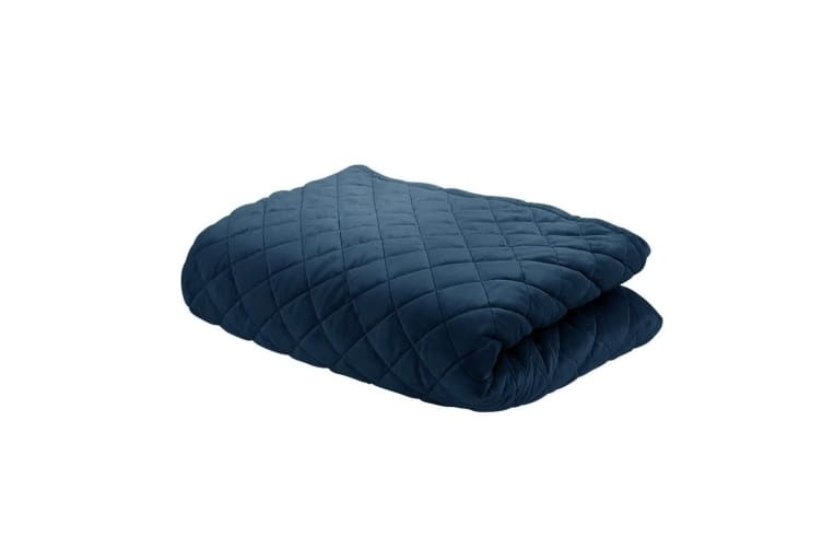 Giselle Bedding Microfibre Weighted Blanket Small Zipper Cover 76cmx102cm Navy