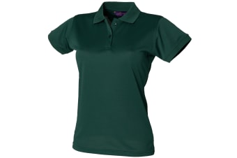 Henbury Womens/Ladies Coolplus® Fitted Polo Shirt (Bottle) (M)