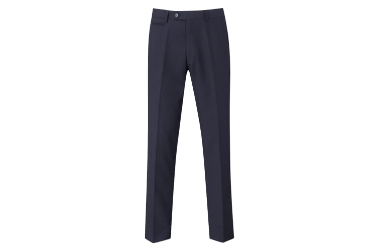 Skopes Mens Madrid Flat Fronted Formal Work/Suit Trousers (Navy) (36/R)