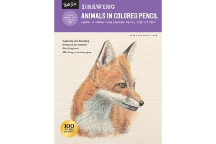 Drawing: Animals in Colored Pencil - Learn to draw with colored pencil step  by step
