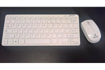 Breeze Slim White Wireless keyboard & Mouse Combo for Leader Breeze Visionary 7 /5 Slim PC SVB7/SVB5