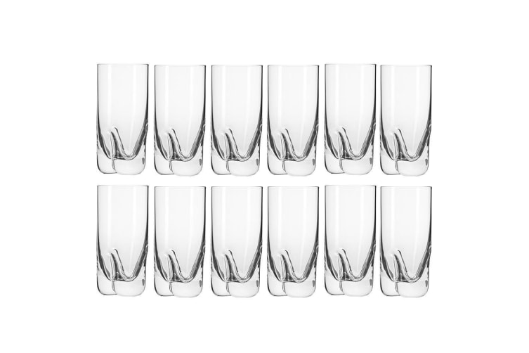 12pc Krosno Mixology 300ml Highball Cocktails Drinks Juice Barware Glasses Set