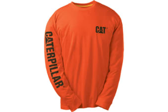 Caterpillar C1510034 TRADEMARK T-SHIRT / Mens Tops (Orange)