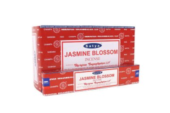 Satya Jasmine Blossom Incense (Box Of 12 Packs) (Red) (One Size)