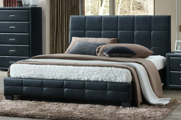 Soho PU Leather Bed Frame (King)