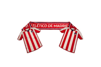 Atletico Madrid FC Shirt Scarf (Red/White)