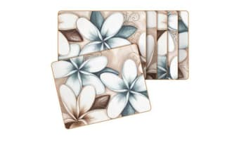 Cinnamon Ocean Frangipani Placemats Set of 6