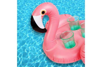 Inflatable Flamingo Drinks Holder – Sunnylife Pink Swimming Pool Floating Cup Drink Float