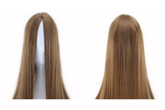 New 75cm Straight Sleek Long Synthetic Cosplay Costume Wigs Party Womens Gift - Light Brown