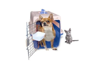 Airline Approve Dog Cat Portable Tote Crate Pet Carrier - Blue