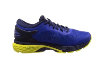 ASICS Men's Gel-Kayano 25 Running Shoe (Blue/Lemon Spark, Size 14)