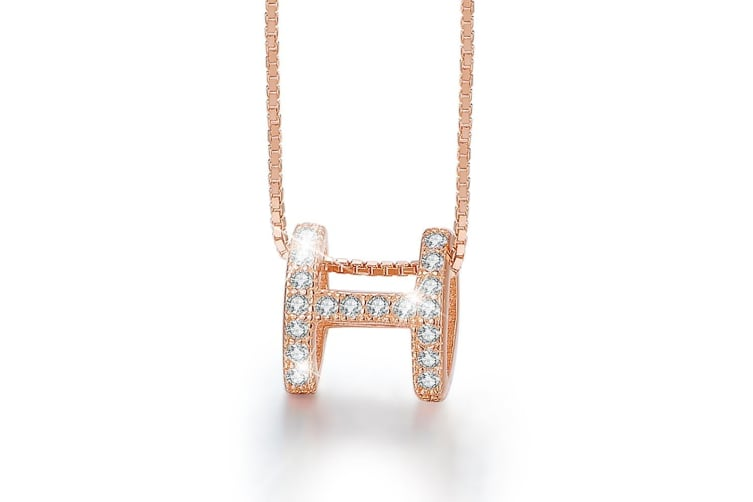 .925 Tidal Glam Necklace-Rose Gold/Clear