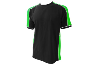 Formula Racing® Estoril T-Shirt / Mens Sportswear (Black/Lime/White) (S)