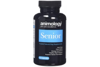 Animology Senior Supplement For Dogs (60 Capsules) (Black/Blue) (One Size)