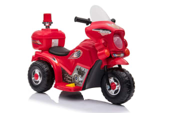 Kids Ride-On Motorbike Motorcycle Electric Bike Toy Car Trike Battery Red/White - Red
