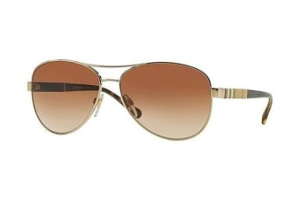 Burberry BE3080 59mm - Light Gold (Brown Shaded lens) Womens Sunglasses