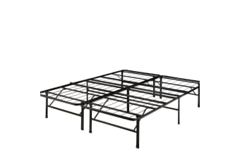 Levede Foldable Metal Bed Frame Mattress Base Platform Air BnB King Size  -  KingKing