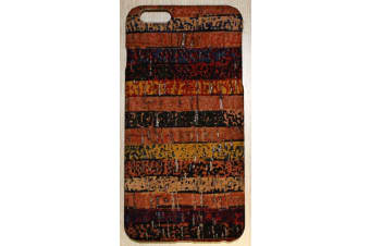 For iPhone 6S PLUS 6 PLUS Case Rainbow Eco Cork High-Quality Protective Cover