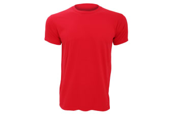 Anvil Mens Fashion Tee / T-Shirt (Red)