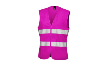 Result Core Womens/Ladies Sleeveless Hi Vis Vest (Fluorescent Pink)