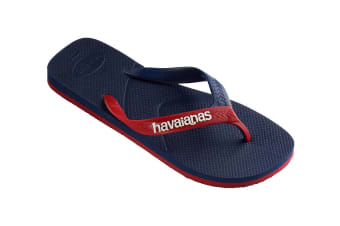 Havaianas Casual Thongs (Navy Blue Blue/Red, Size 45/46 BR)