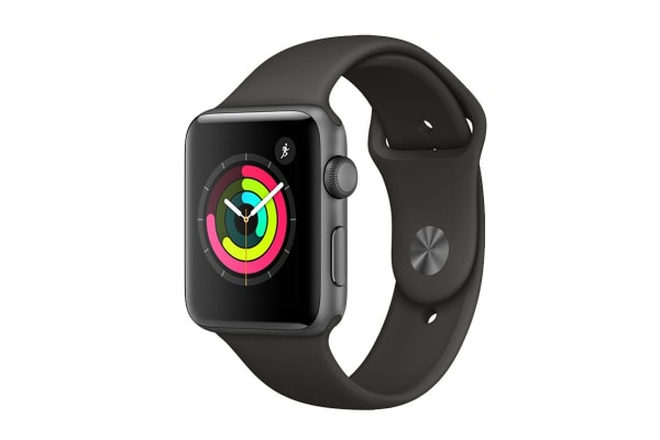 Apple Watch Series 3 (Space Grey, 38mm, Grey Sport Band, GPS Only)