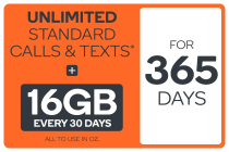 Kogan Mobile Prepaid Voucher Code: EXTRA LARGE (365 Days | 16GB Per 30 Days)