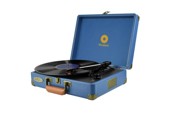 mbeat Woodstock Retro Turntable - Blue (MB-TR89BLU)