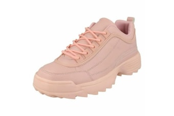 Reflex Womens/Ladies Lace Up Trainers (Pink)